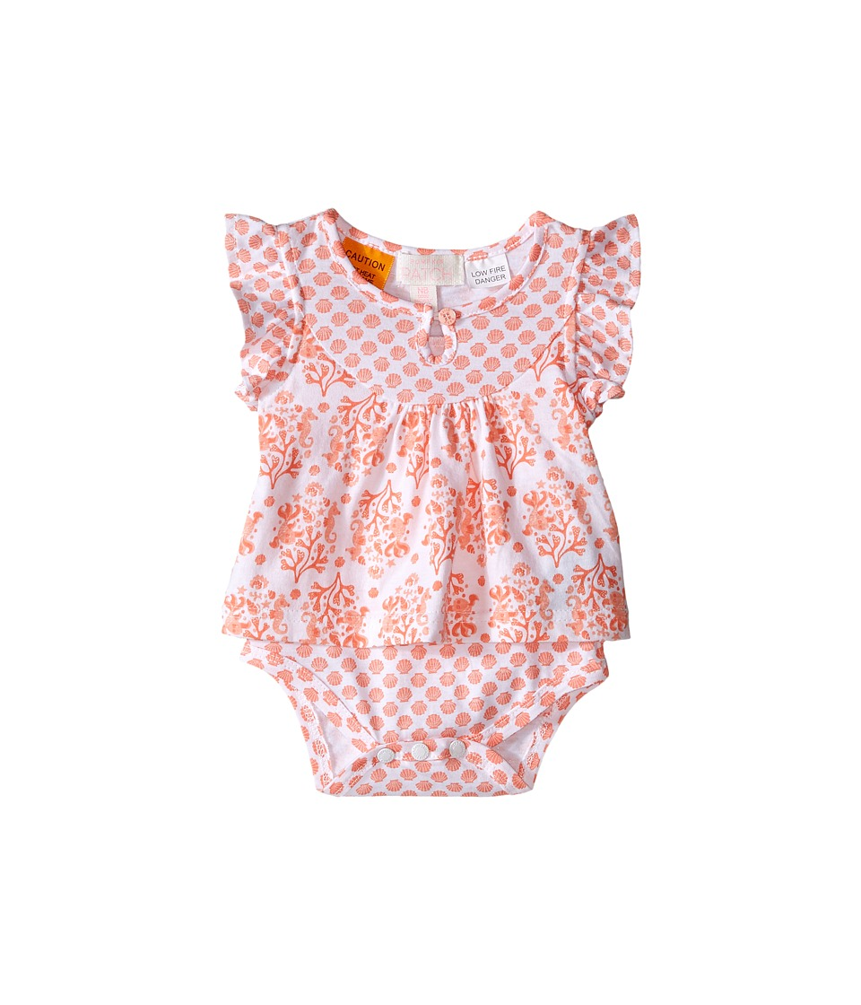 Pumpkin Patch Kids Batik Mock Tee Bodysuit Infant Super White Girls Jumpsuit Rompers One Piece