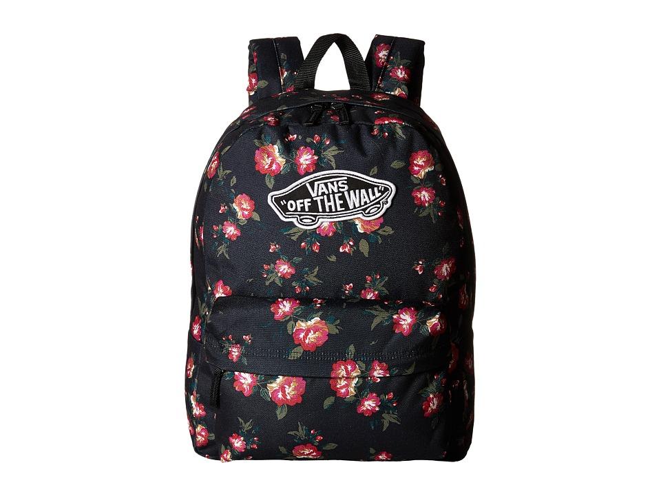 Vans - Realm Backpack (Floral Black) Backpack Bags