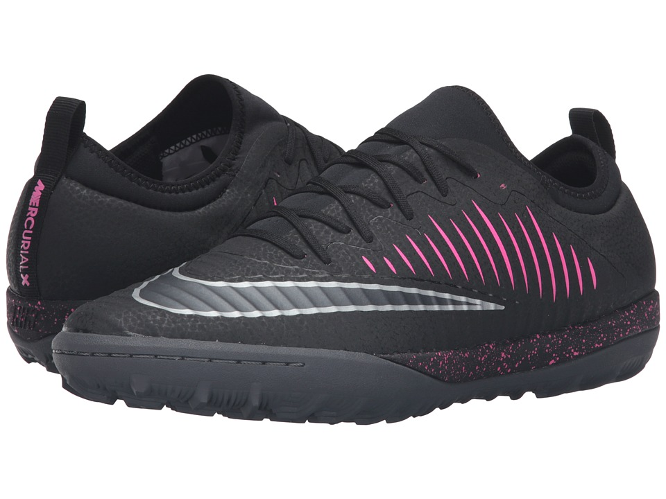 Nike - MercurialX Finale II TF (Black/Pink Blast/Gum Light Brown/Black) Men