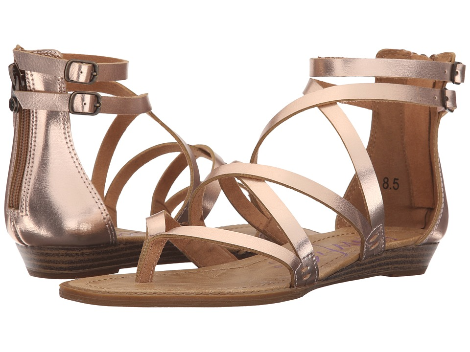 Blowfish Bungalow Rose Gold Pisa PU Womens Sandals