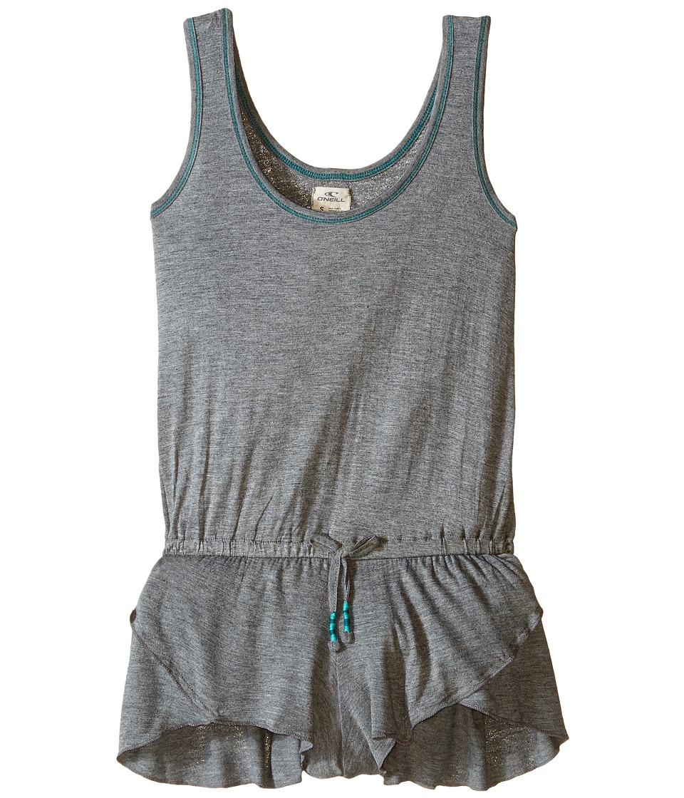 ONeill Kids Avery Cover Up Little Kids/Big Kids Heather Grey Girls Swimsuits One Piece