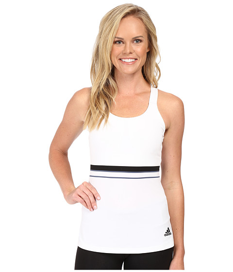 adidas All Premium Strappy Tank Top - White/Black