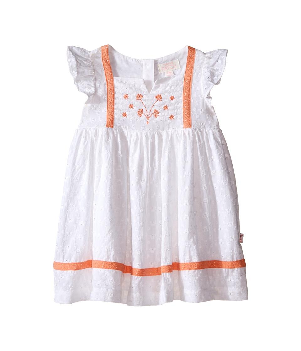 Pumpkin Patch Kids Broderie Dress Infant Super White Girls Dress