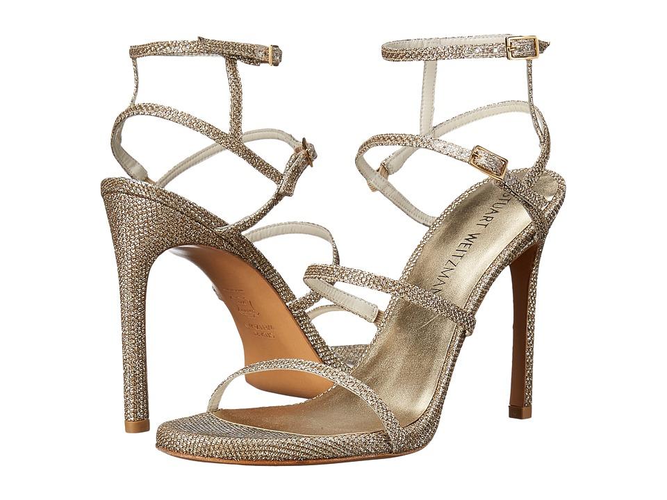 Stuart Weitzman Bridal amp Evening Collection Courtesan Platinum Noir Womens Shoes