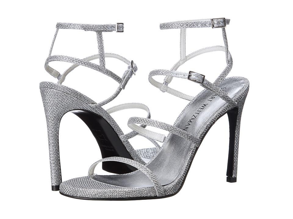 Stuart Weitzman Bridal amp Evening Collection Courtesan Silver Noir Womens Shoes