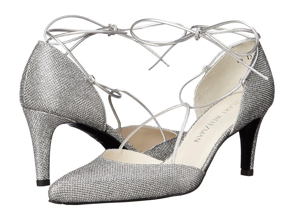 Stuart Weitzman Bridal amp Evening Collection Beagirl Silver Noir Womens Shoes