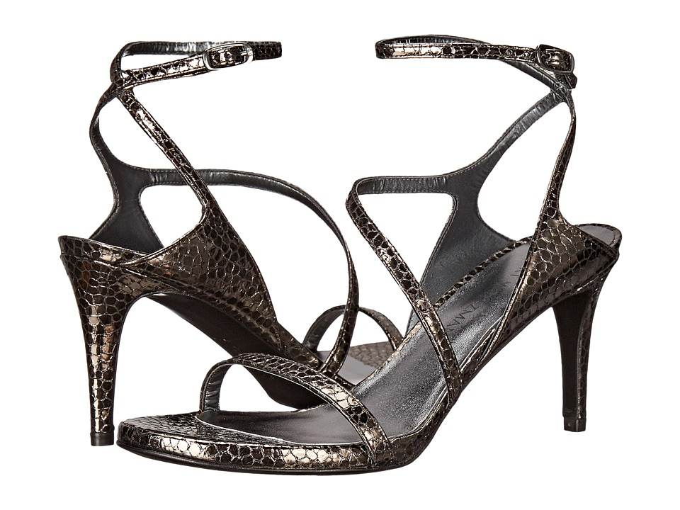 Stuart Weitzman Bridal amp Evening Collection Sultrymid Pewter Shatter Nappa High Heels
