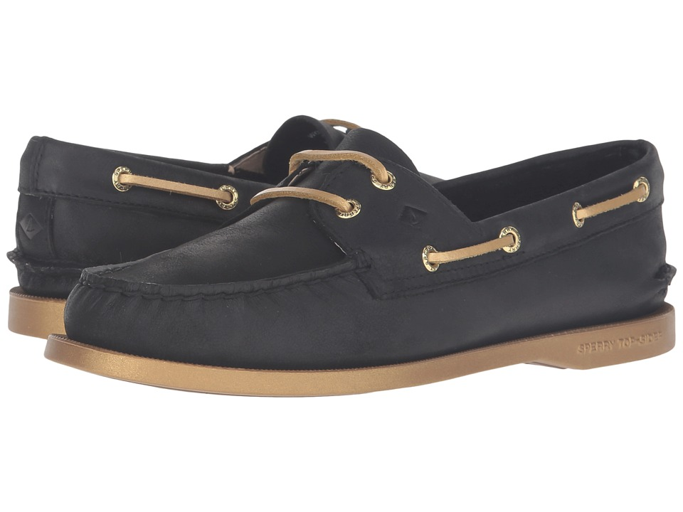 Sperry Top-Sider A/O 2-Eye Bling (Black/Gold) Women