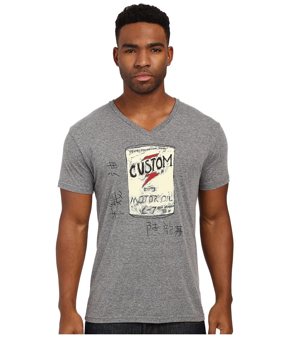 Custom Ketchup Custom Oil Top Grey Mens Short Sleeve Pullover