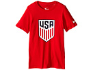 Nike Kids USA Crest Tee (Little Kids/Big Kids)