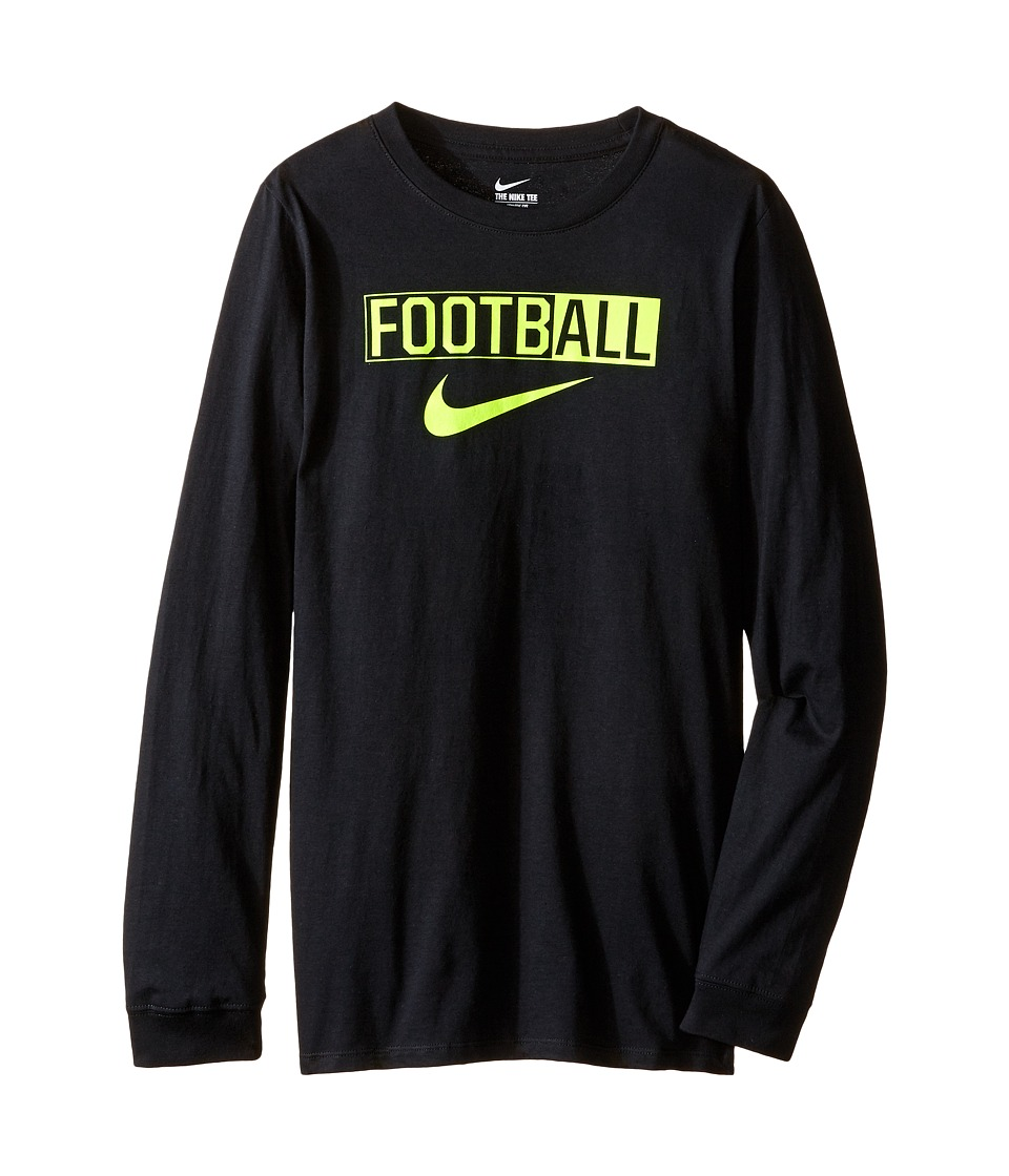 Nike Kids All Football Training T-Shirt (Little Kids/Big Kids) (Black) Boy