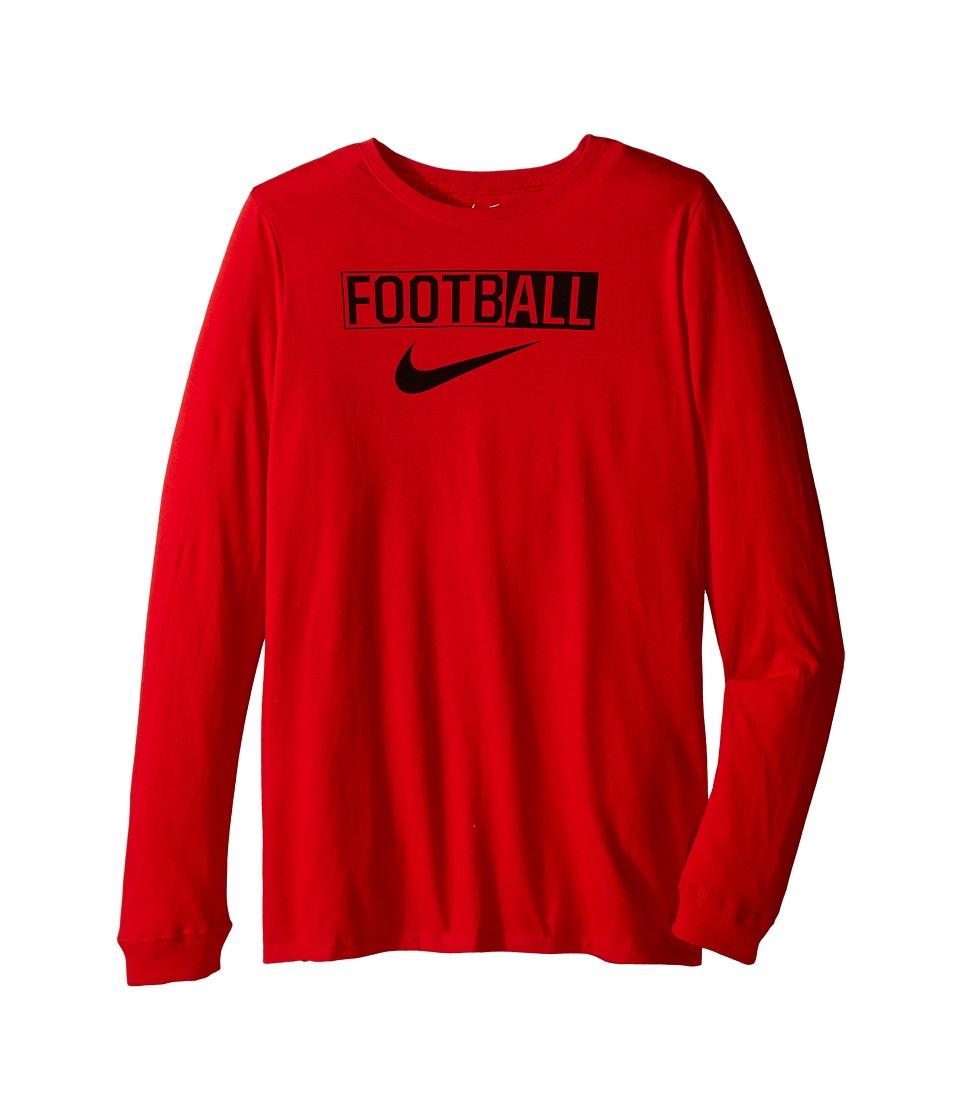 Nike Kids All Football Training T-Shirt (Little Kids/Big Kids) (University Red) Boy