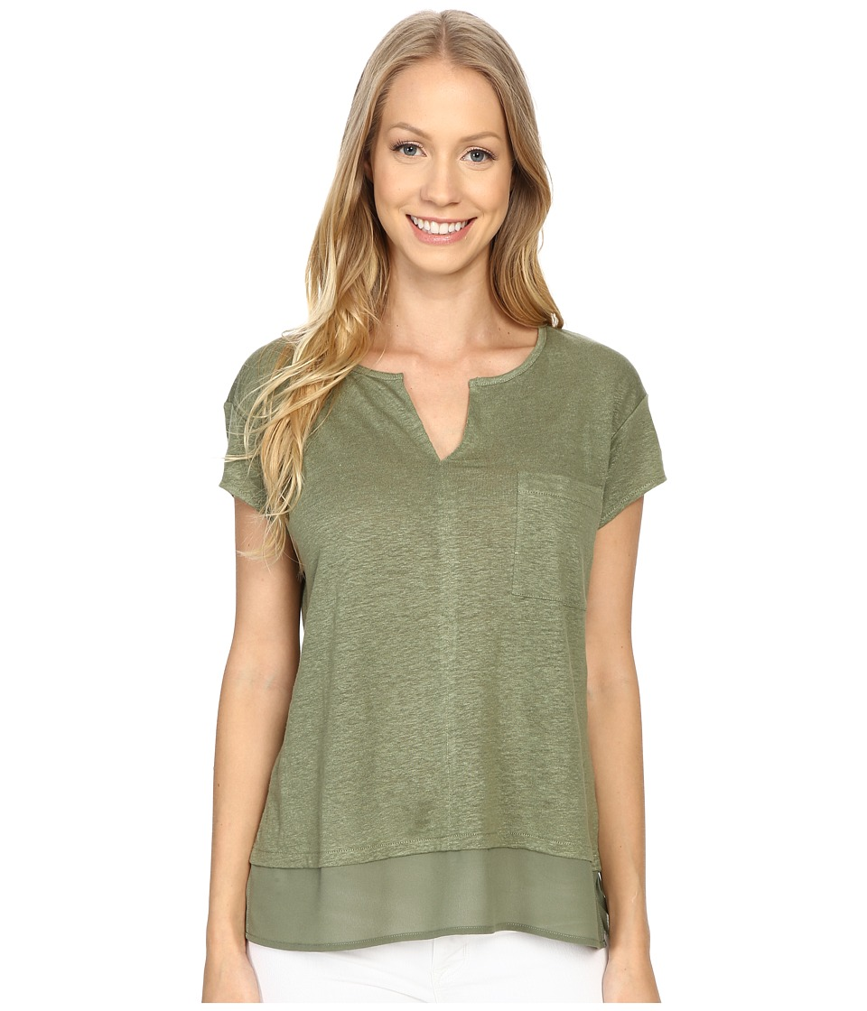 Sanctuary - City Mix Tee (Cactus) Womens Short Sleeve Pullover