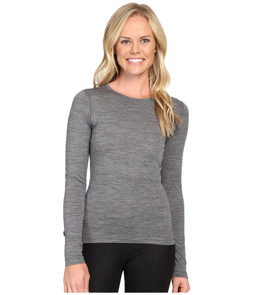 Icebreaker - Oasis Long Sleeve Crewe (Gritstone Heather) Womens Long Sleeve Pullover