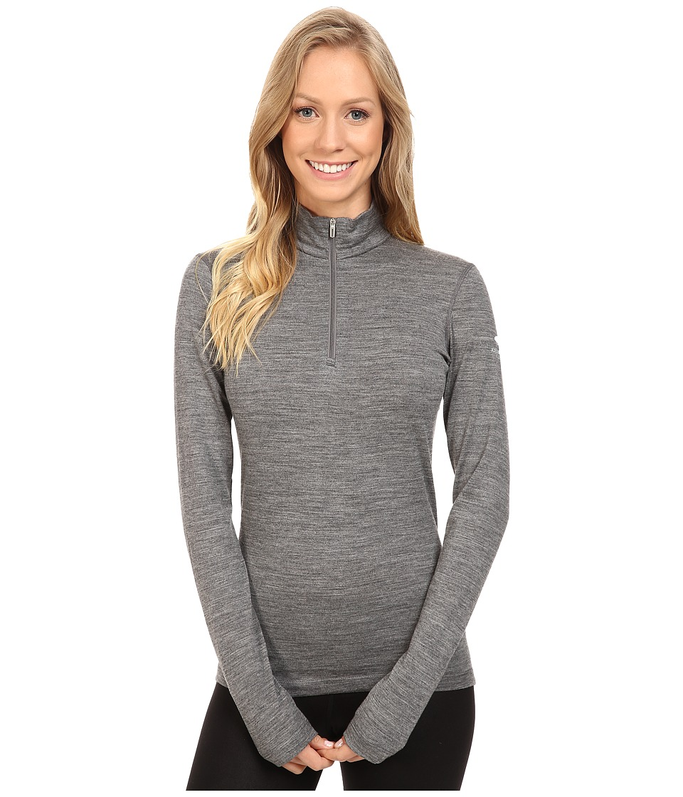 Icebreaker Oasis Long Sleeve Half Zip (Gritstone Heather) Women