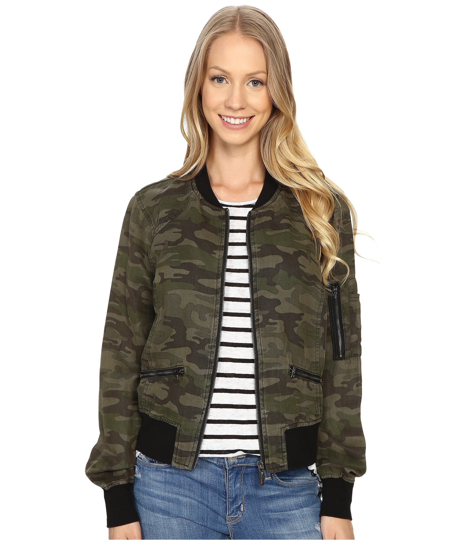 Sanctuary New Shrunken Bomber Jacket at Zappos.com