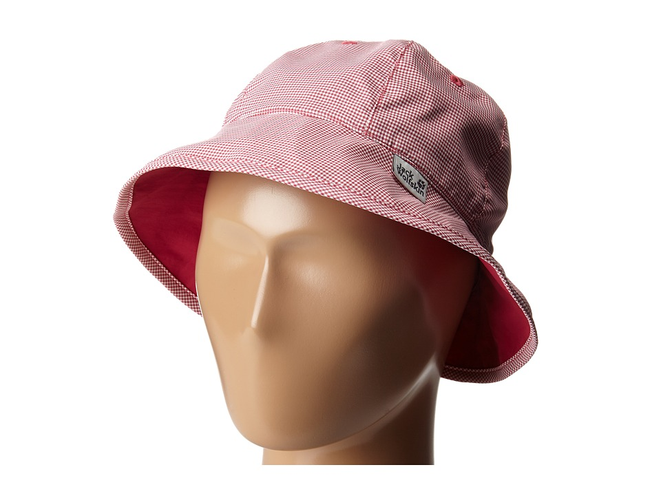 Jack Wolfskin Kids Reversible Desert Sun Hat Little Kid/Big Kid Azalea Red Caps