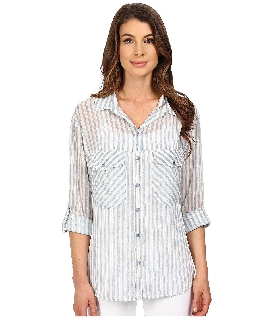 Sanctuary Boyfriend Shirt Laundry Stripe Womens Clothing
