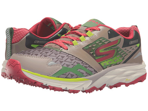 SKECHERS Go Trail - Taupe/Pink