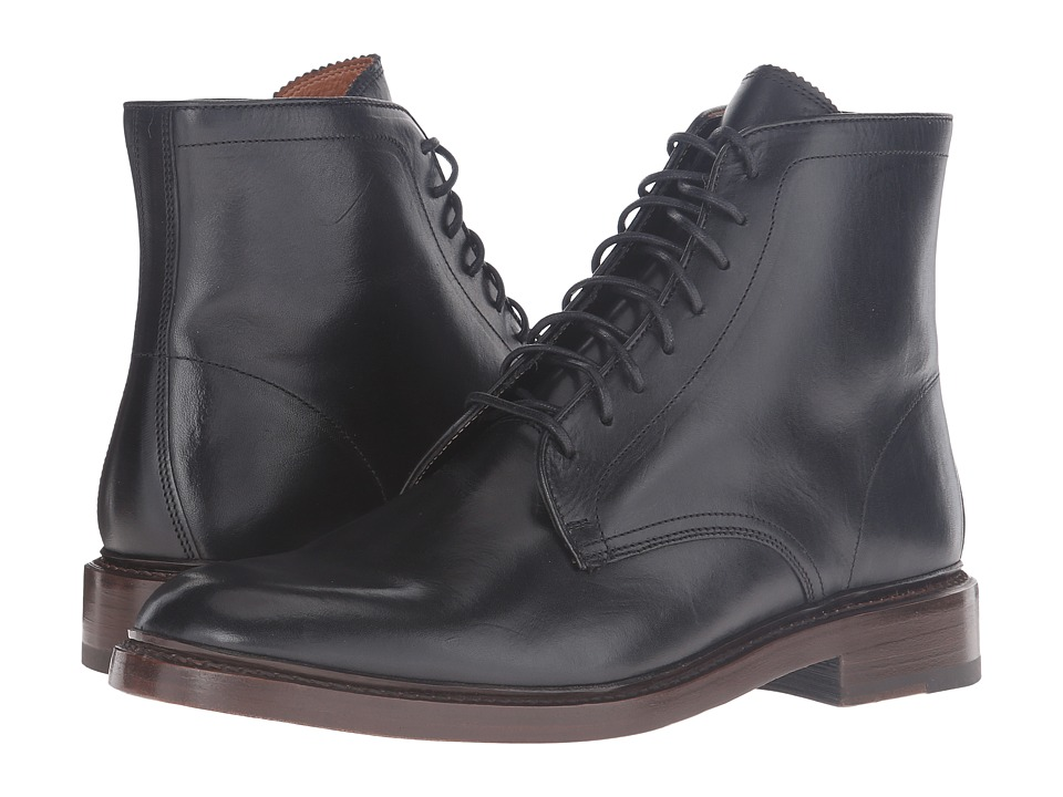 Frye - Jones Lace-Up (Black Vintage Veg Tan) Men