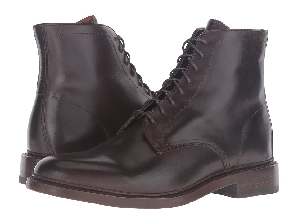 Frye - Jones Lace-Up (Chocolate Vintage Veg Tan) Men