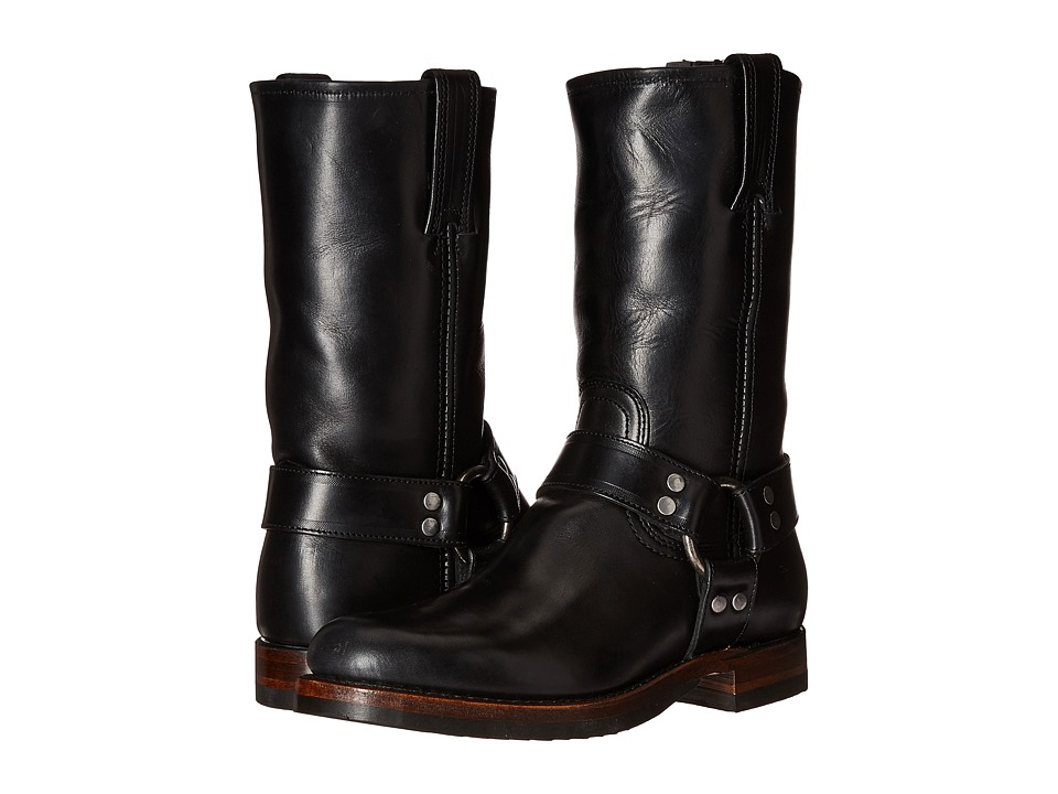 Frye John Addison Harness (Black Smooth Pull-Up Leather) ...