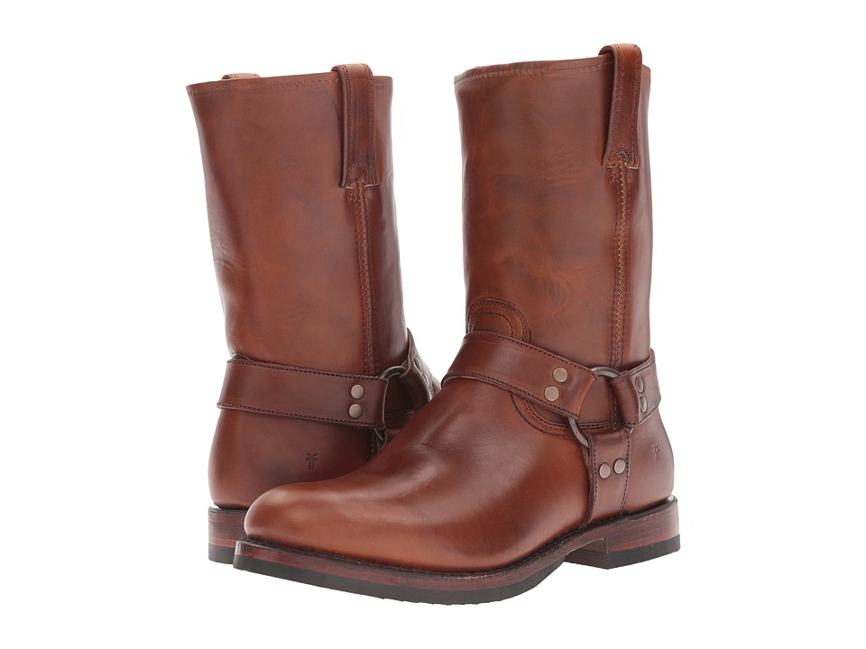 Frye John Addison Harness (Whiskey Smooth Pull-Up Leather...