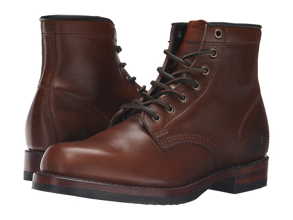 Frye - John Addison Lace-Up (Whiskey Smooth Pull-Up Leather) Men