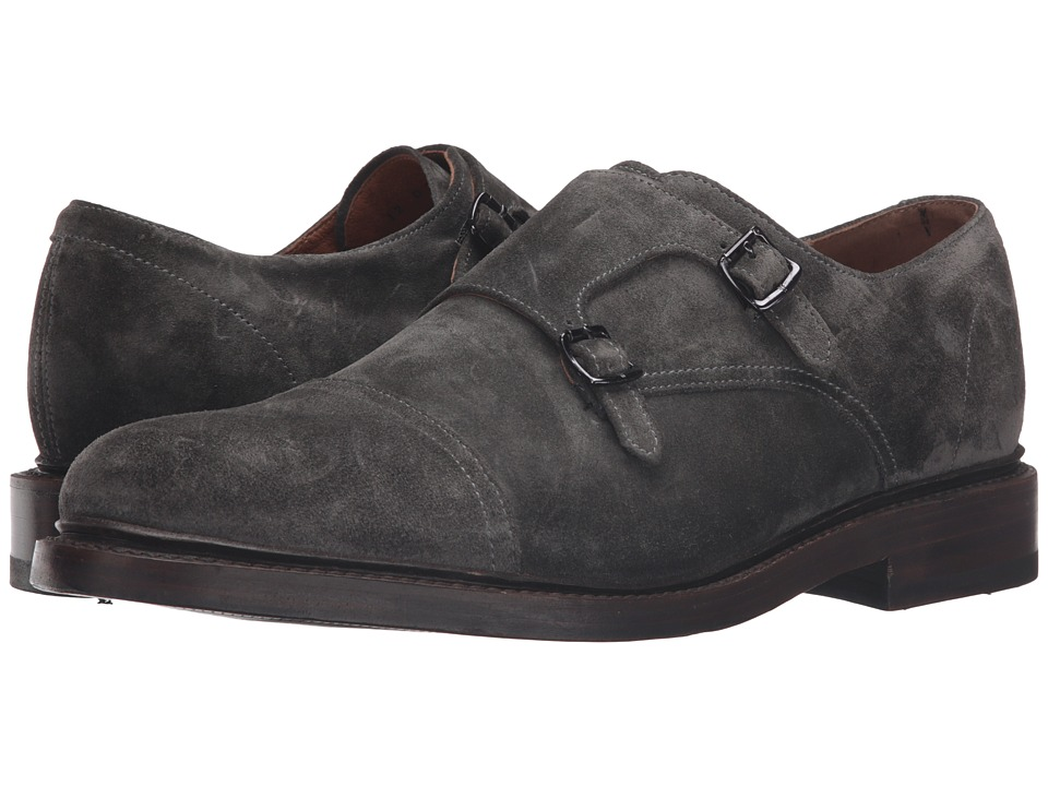 Frye - Jones Double Monk (Charcoal Oiled Suede) Men