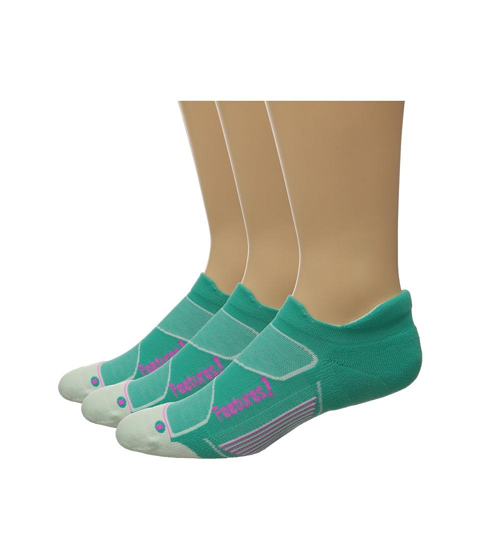 Feetures Elite Max Cushion No Show Tab 3 Pair Pack Atlantis/Fuchsia No Show Socks Shoes