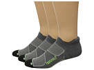 Image of Feetures - Elite Max Cushion No Show Tab 3-Pair Pack (Heather Gray/Reflector) No Show Socks Shoes