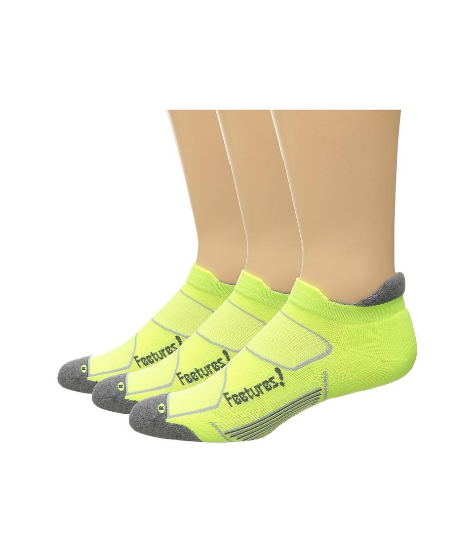Feetures Elite Max Cushion No Show Tab 3 Pair Pack Reflector/Carbon No Show Socks Shoes