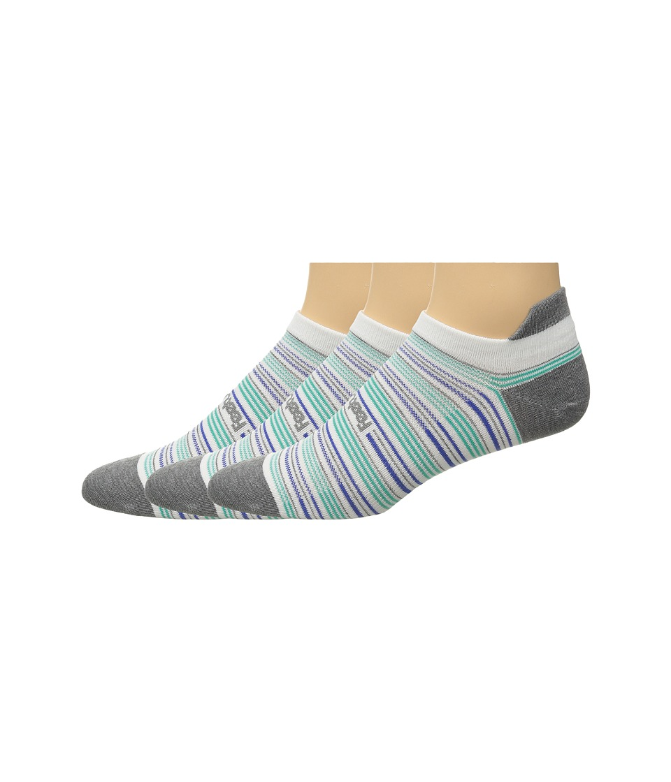 Feetures Ultra Light No Show Tab 3 Pair Pack Heather Gray Multi/Stripe No Show Socks Shoes