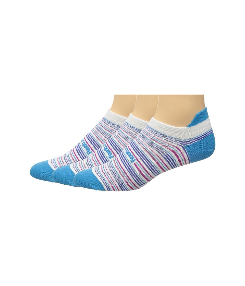 Feetures Ultra Light No Show Tab 3 Pair Pack Hawaiian Blue Multi/Stripe No Show Socks Shoes
