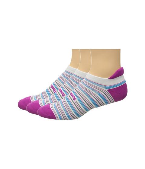 Feetures Cushion No Show Tab 3-Pair Pack - Berry Multi/Stripe