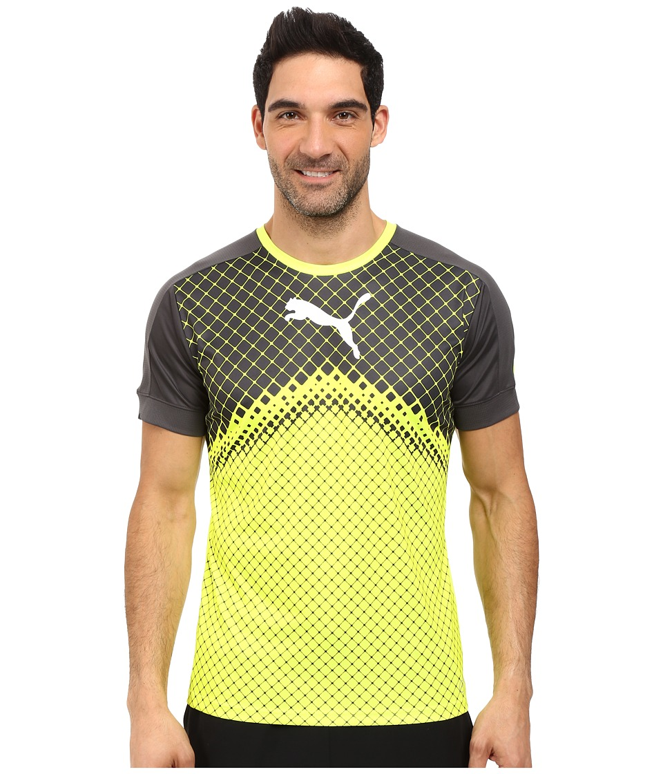PUMA - IT EVOTRG Graphic Tee (Safety Yellow/Asphalt) Men