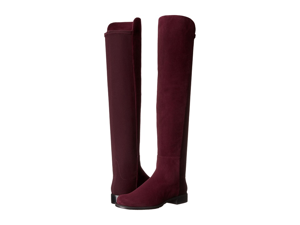Stuart Weitzman 5050 (Currant Suede) Women's Pull-on Boots