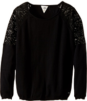 IKKS - Knit Pullover Sweater with Sheer Lace Detail on Shoulders (Big Kids)