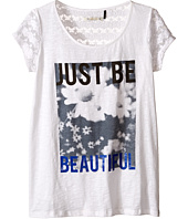 IKKS - Graphic T-Shirt with Lace Sleeves (Big Kids)