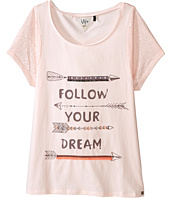 IKKS - Burnout Jersey Loose Fitting Top with Love Graphic on Front (Big Kids)