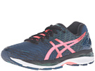 Image of ASICS - Gel-Nimbus 18 (Poseidon/Flash Coral/Black) Women's Running Shoes