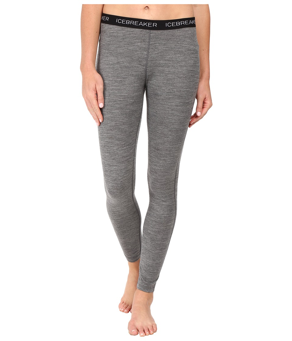 Icebreaker Oasis Legging (Gritstone Heather/Black/White) Women