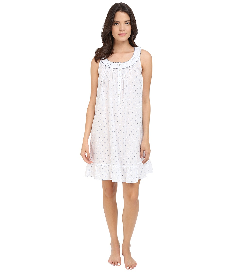 Eileen West Short Chemise White Ground Waves Womens Pajama