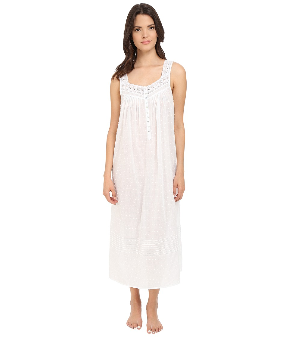 Eileen West Ballet Nightgown Solid White Womens Pajama