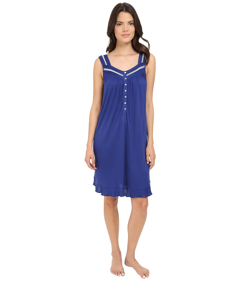 Eileen West Short Chemise Solid Navy Womens Pajama