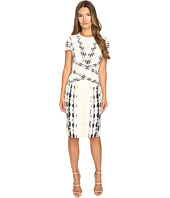 Prabal Gurung - Short Sleeve Printed Sheath Dress