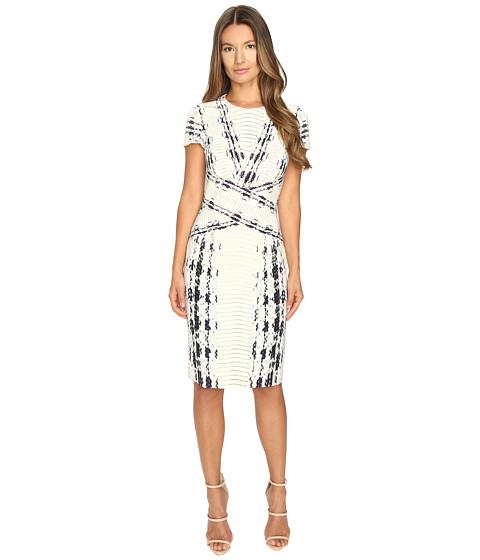 Prabal Gurung Short Sleeve Printed Sheath Dress