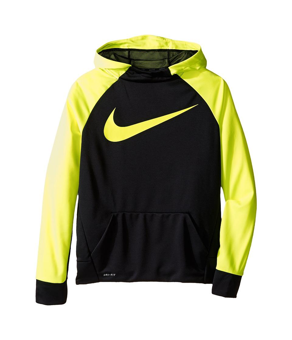 Nike Kids - Therma Hoodie (Little Kids/Big Kids) (Black/V...