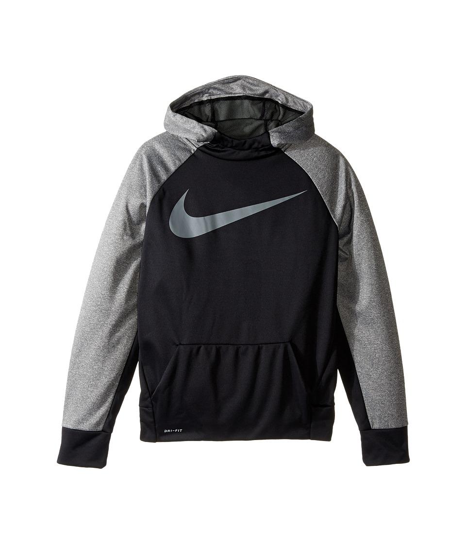 Nike Kids - Therma Hoodie (Little Kids/Big Kids) (Black/D...