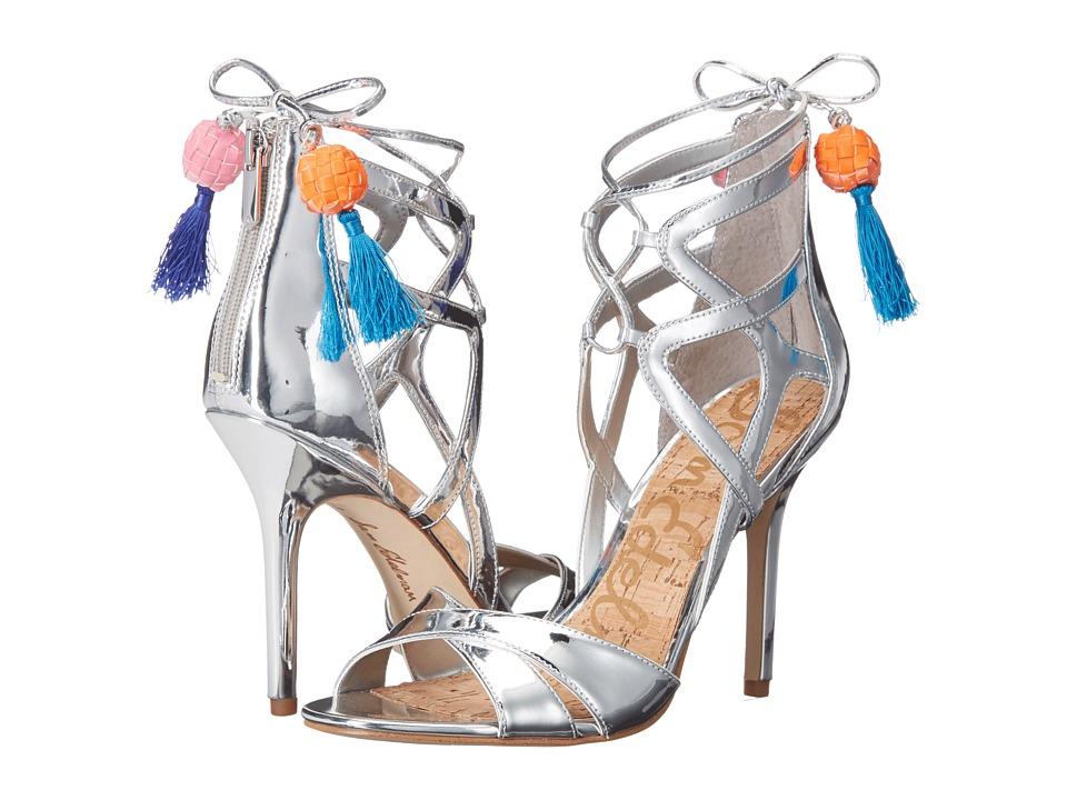 Sam Edelman Azela Soft Silver Liquid Metallic High Heels